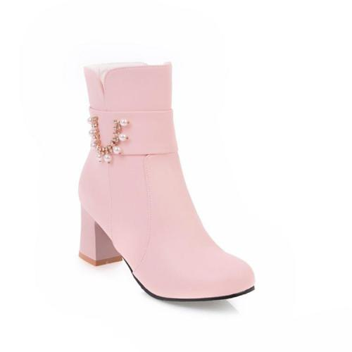 Women's Ankle Boots Spring and Autumn High-heeled Short Boots Shoes