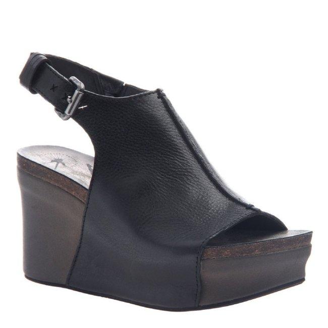 JAUNT in BLACK Wedge Sandals
