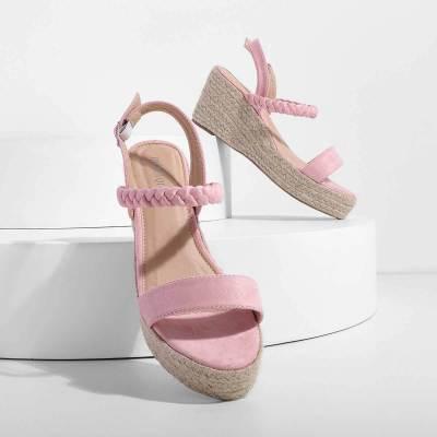 Comfy Summer Buckle Sandals Espadrilles Wedge Sandals