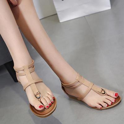 Sandals women shoes woman 2019 new elegant wedge clip toe sandals female back zipper outdoor women sandals zapatos de mujer