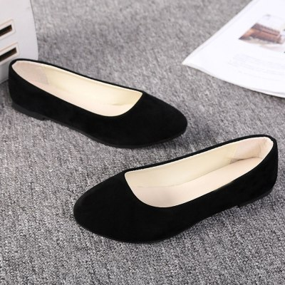 Plus Size Women Flats Shoes 2019 Loafers Flock Slip On Boat Shoes Female Round Toe Casual Flat Shoes Women Zapatos Mujer
