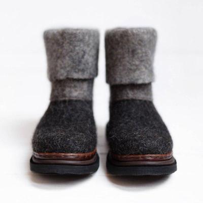 Women Winter Slip-On Woolen Ankle Boots