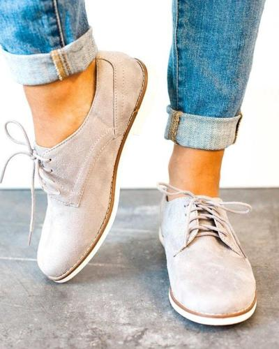 Suede Lace-Up Casual Sneaker