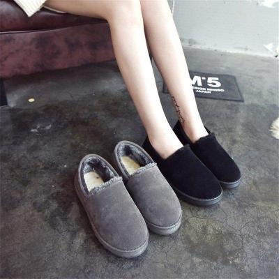 Women's Fur Winter Boots Slip-On Round Toe Snow Boots