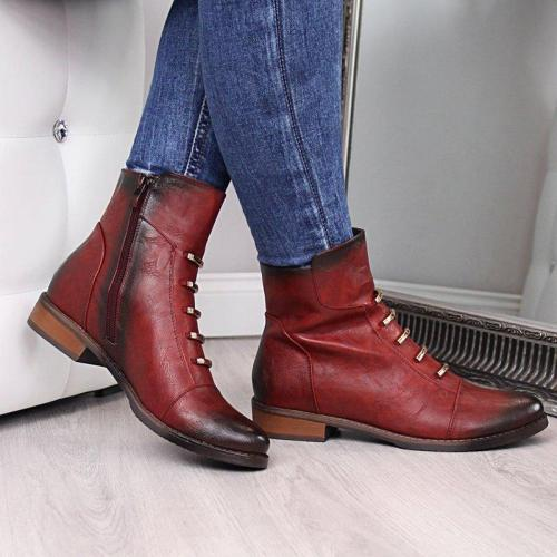 Women Casual Daily Artificial Leather Boots