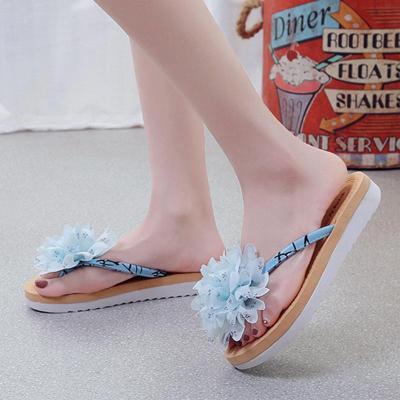 Thong Open Toe Flower Summer Cloth Women Slippers