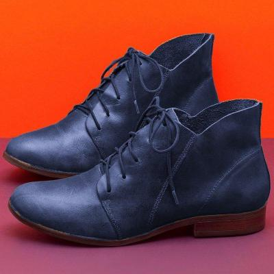 Women's Flat Lace Up Booties