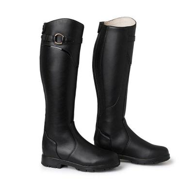 Leather Daily Flat Heel Knee Boots