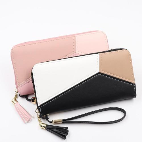 2020 Leather Women Wallet Tassel Long Wallets Fashion Wallet Female Girls Phone Pocket Purse Card Holder Long Clutch Coin Purse