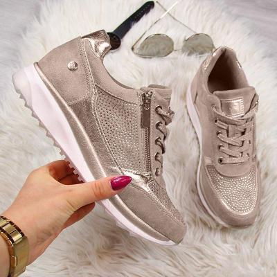 Gray All Season Faux Leather Sneakers