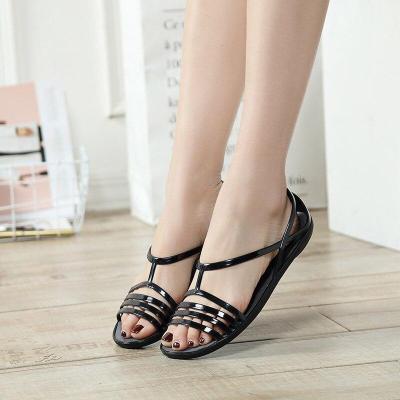 2019 Summer Jelly Shoes Women Sandals Flat Beach Sandals Summer Women Shoes Ladies Sandals Elegant Non-slip A758
