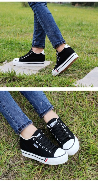 Women Canvas shoes Platform Sneakers Breathable White Sneakers Woman Lace Up Casual Woman Sneakers Female Footwear