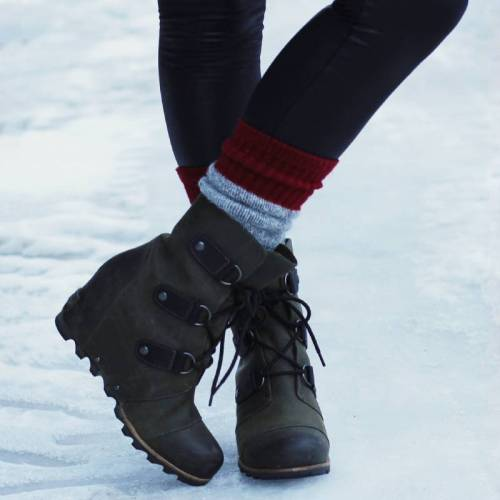 Round Toe Lace-Up Booties