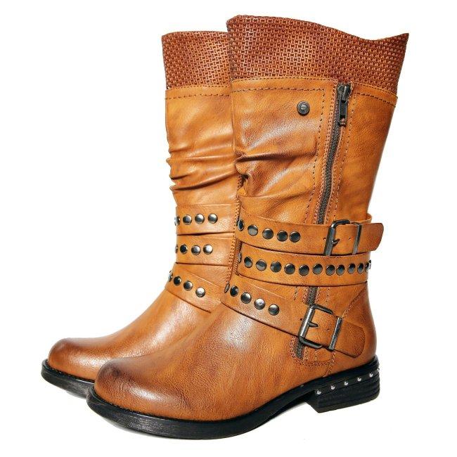 Low Heel Rivet Winter Casual Boots