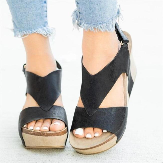 Cuteshoeswear CuteshoeswearLitthing 2020 Women Wedge Sandals Female Platform Fashion High Heel Sandals Fashion Ankle Strap Open Toe Ladies Shoes
