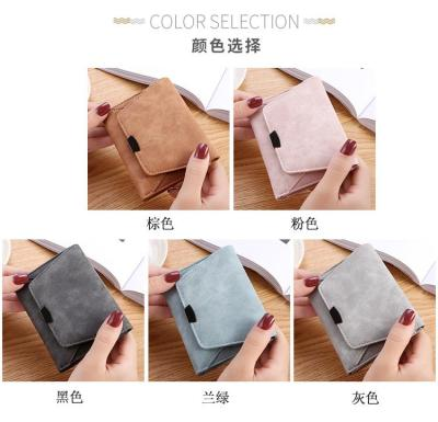 Wallet Female Women Leather Folding Coin Purse Hasp Short Wallet Vintage Fashion Lady Wallet for Credit Cards Carteira Feminina