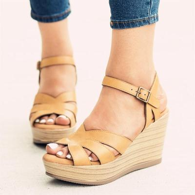 Fashion Women's High Heel Wedge Open Toe Sandals