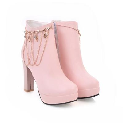 Women's High Heels Ankle Boots Autumn and Winter Short Boots Shoes
