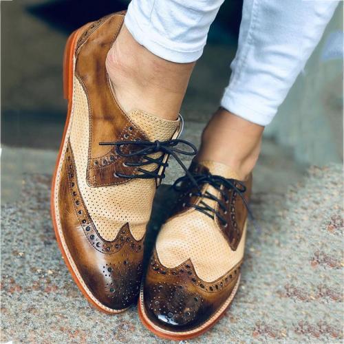 Women Vintage Leather Loaf Shoes