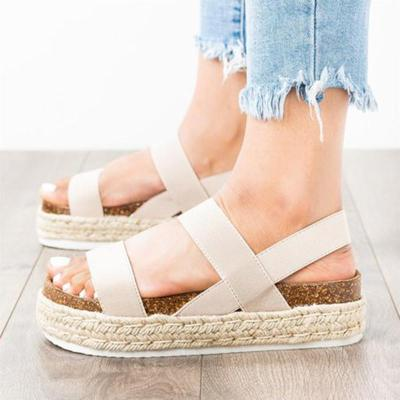 Espadrille Creepers Casual Elastic Band Sandals