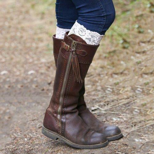 Women Flat Heel Flat Boots