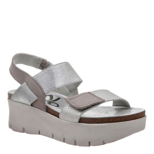 NOVA in NEW SILVER Wedge Sandals