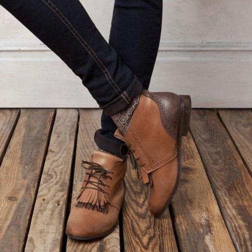 Flat Heel Pu Boots
