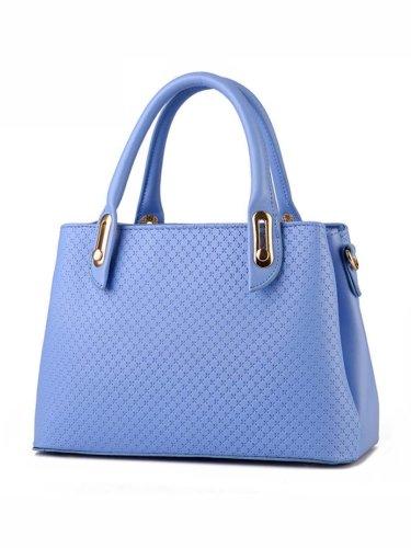 Cross Embossed Pu Shoulder Bag