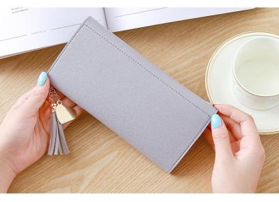 2020 Fashion Womens Wallets Simple Zipper Purses Black White Gray Red Long Section Clutch Wallet Soft PU Leather Money Bag