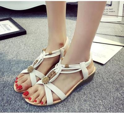 Women's sandals 2018 Gladiator Sandalias Mujer for Women Shoes Summer String Bead beach shoes Flip Flops Women's Beach Sandals