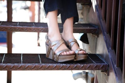 SAIL in GOLD Wedge Sandals