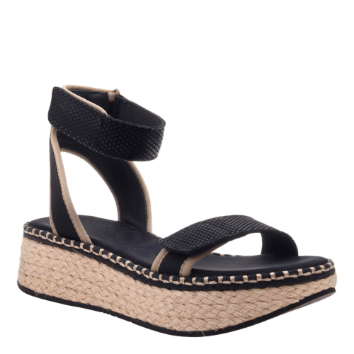 REFLECTOR in BLACK Wedge Sandals