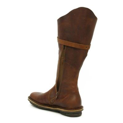 Women Round Toe Vintage Low Heel Pu Zipper Casual Mid-Calf Boots