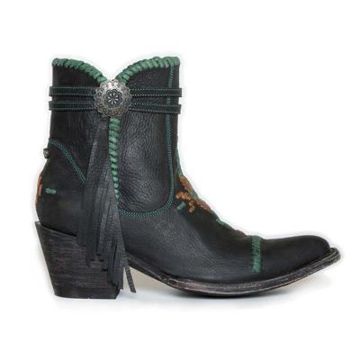 Vintage Block Heel Tassel Ankle Boots Side Zipper Winter Booties Shoes