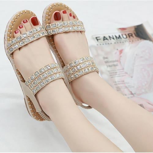Shoes woman sandals female 2019 new fashion outdoor flats women sandals bohemian sequins women shoes zapatos de mujer