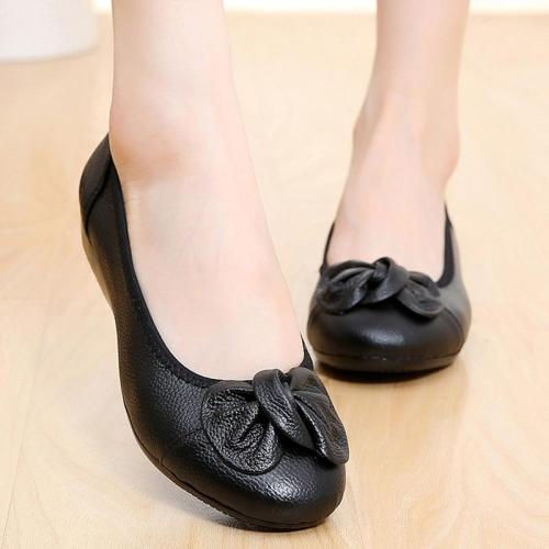 2021 Genuine Leather Mother Ballet Flats New Handmade Shoes Women Loafers Soft Moccasins Women Slipony Flats Shoes Zapatos Mujer