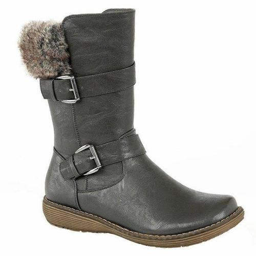 Winter Split Joint Flat Heel Daily Long Boots
