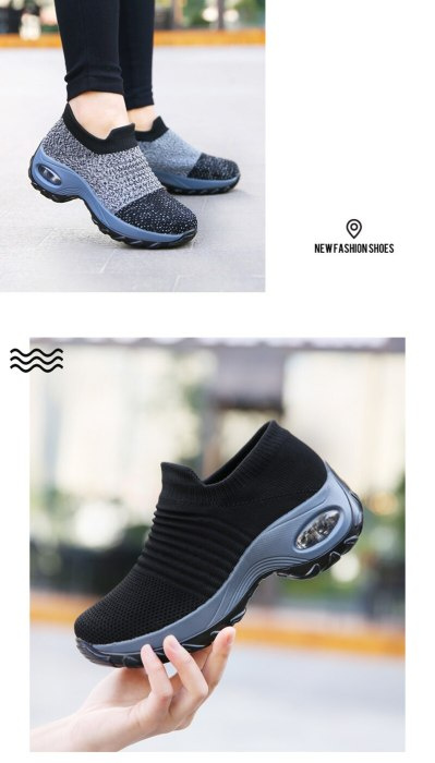 Plus Size Women Sneakers Breathable Platform Casual Shoes Female Elastic Autumn Spring Women Vulcanize Shoes Zapatos Mujer VT632