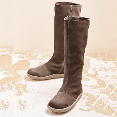 Women Winter Slip-On Suede Knee-High Boots