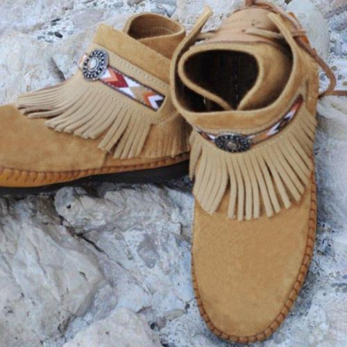 Daily Tassel Spring Suede Boots