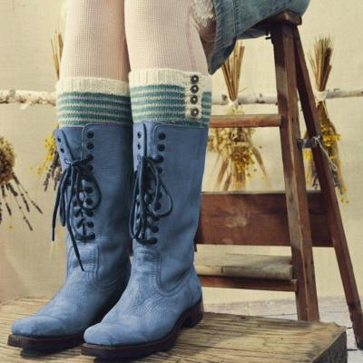 Womens Casual Lace-Up Round Toe Mid-Calf Leather Boots