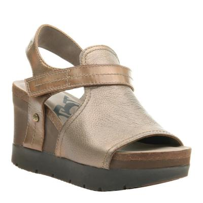 WAYPOINT in NEW GOLD Wedge Sandals