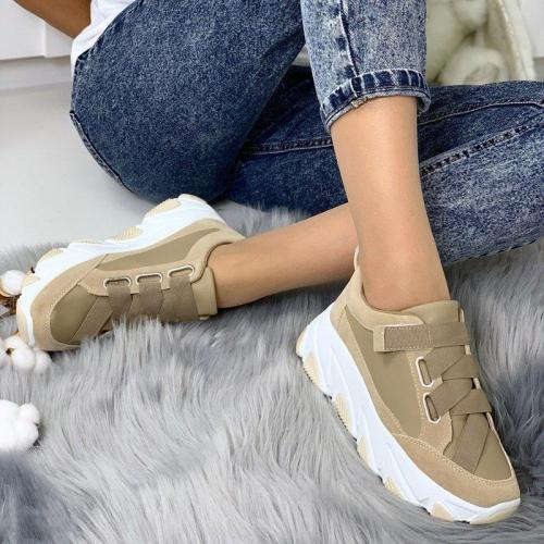 Plus Size Elastic Band Platform Shoes All Season Sneakers
