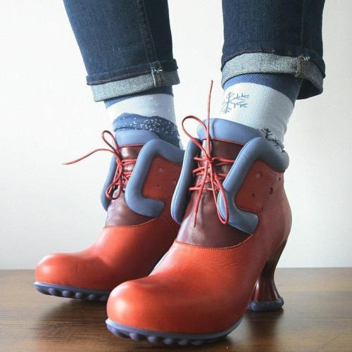 Lace-Up Party & Evening Pu Ankle Boots