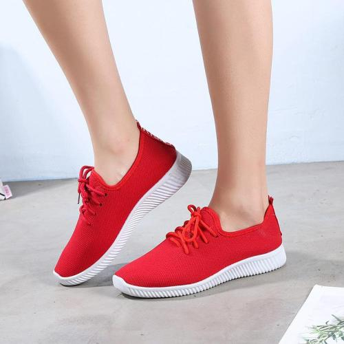 Sneakers Women Shoes 2020 Fashion Spring Autumn Non-slip Breathable Mesh Casual Shoes Woman Solid Lace-up Flats Women Sneakers