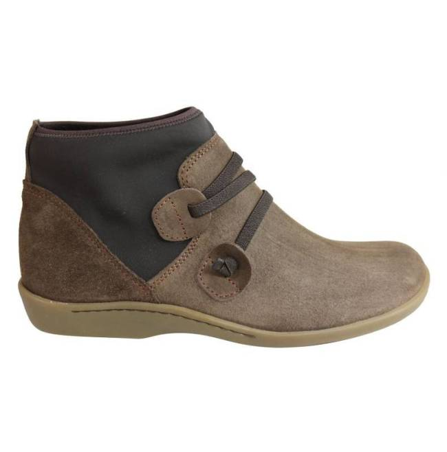 Women Casual Slip-On Faux Suede Comfy Ankle Boots