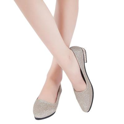 YOUYEDIAN 2019 Women Flat Shoes Sequined Pointed Toe Women Boat Shoes Spring Autumn Flat Shoes Women Casual Party Flats