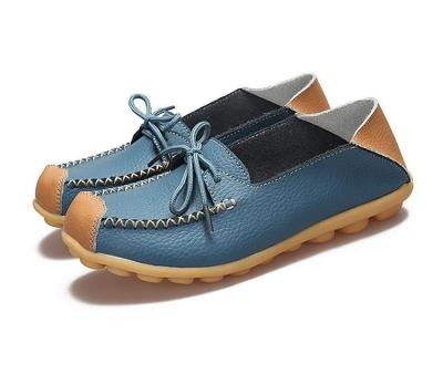 Women flats shoes 2020 fashion casual lace-up genuine leather flats femal shoes zapatos mujer spring summer shoes woman