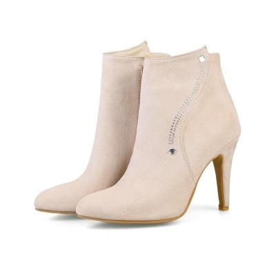 Women's High Heels Short Boots Pointed Toe Ankle Boots