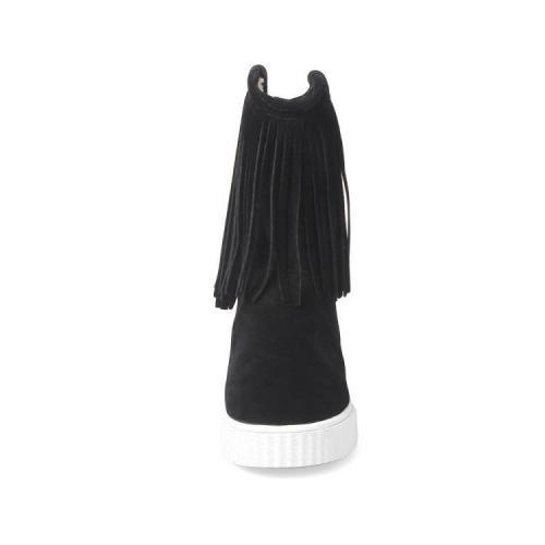 Women Tassel Short Boots Platform Plus Size Autumn and Winter Shoes 7191